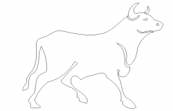 Cute cow animal block cad elevation design dwg file