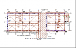 Cutting beam view of zone consultancy for integral center dwg file
