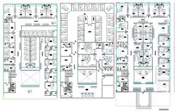 DWG Drawing Floor Plans Of Hospital Building With Fully Furnished AutoCAD File