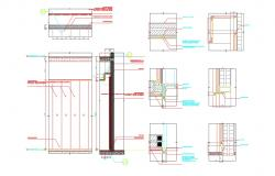 DWG Glass Facade Elevation Interior Working Drawing AutoCAD File