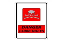 Danger sign cad blocks