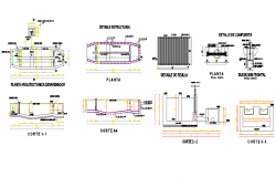 De sander plan and section detail dwg file