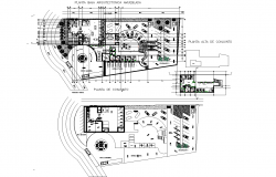 Dealership plan detail dwg file.