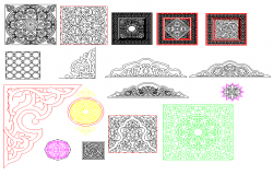 Decorative Blocks dwg file