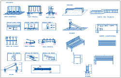 Decorative and multi-purpose equipment design of garden dwg file