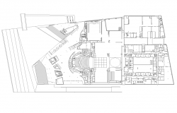 Departmental store building detail plan 2d view layout file