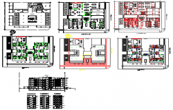 Departments complex and residential project design drawing