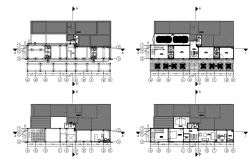 Departments in hotel and layout plans