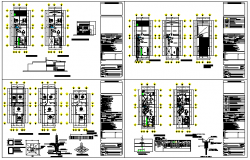 Departments of 2 floors design drawing