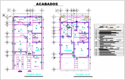 Description detail with floor finishing plan for house dwg file