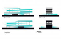 Design Hotel building in dwg file
