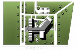 Design layout of dentistry building.