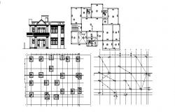 Design of Footing layout plan in dwg file