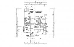 Design of House 36'' x 49'' with detail dimension in AutoCAD