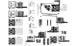 Design of Residential apartment in autocad