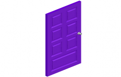 Design of Square shaped 3d view of door