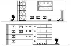 Bank Building Plan In DWG File