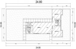 Design of building in dwg file