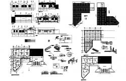 Design of building with detail dimension in AutoCAD