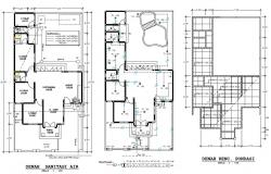 Design of bungalows plans in autocad