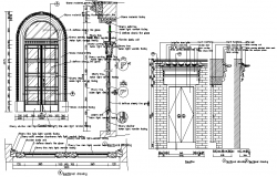 Design of door detail dwg file