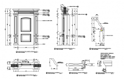 Door Detail CAD Drawing