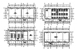 Design of educational building with detail dimension in autocad