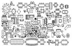 Design of furniture block in AutoCAD