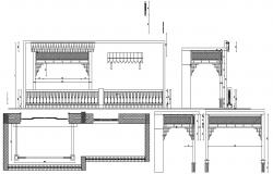 House elevation plan in AutoCAD file