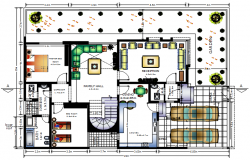Design of house plan 20mtr x 1mtr with furniture details in autocad