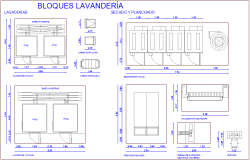 Design of laundry for hospital dwg file