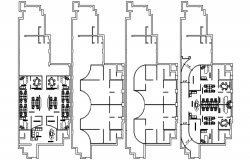 Design of office plan with detail dimension in autocad