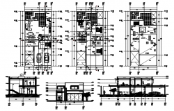 Download Free 2 Storey Residential House Design In AutoCAD File