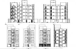 Residential apartment design plans in AutoCAD file
