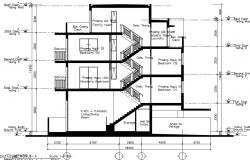 Design of residential building in DWG file
