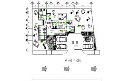 Design of the clinic with detail dimension in dwg file