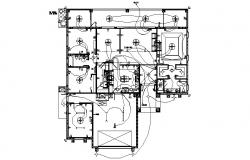 Design of the electric layout of the residence in dwg file
