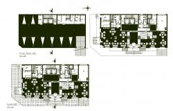 Design of the hotel building with detail dimension in autocad
