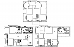 Design of the house with detail dimension in autocad