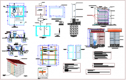 Design of toilet with construction detail dwg file