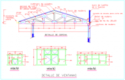 Design of wooden roof truss