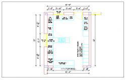 Design plan layout of kitchen with dimension detail dwg file