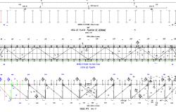 Design truss webbing dry coobing detail dwg file