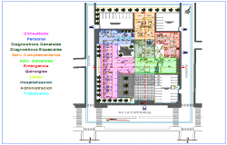 Design view of Oncology clinic with zone