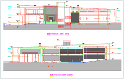 Design view of elevation for family house