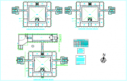 Design view of plan for hostel building view dwg file