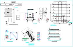 Design view of telecom tower with indoor gen.set