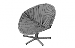 Designer Chair 3d concept