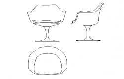 Designer chair details dwg file