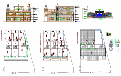 Designer elevation and floor plan view of bungalows for kapadvanj area dwg file